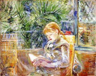 Berthe-Morisot_Jeune-fille-lisant-1888