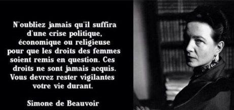 Citation de S de Beauvoir