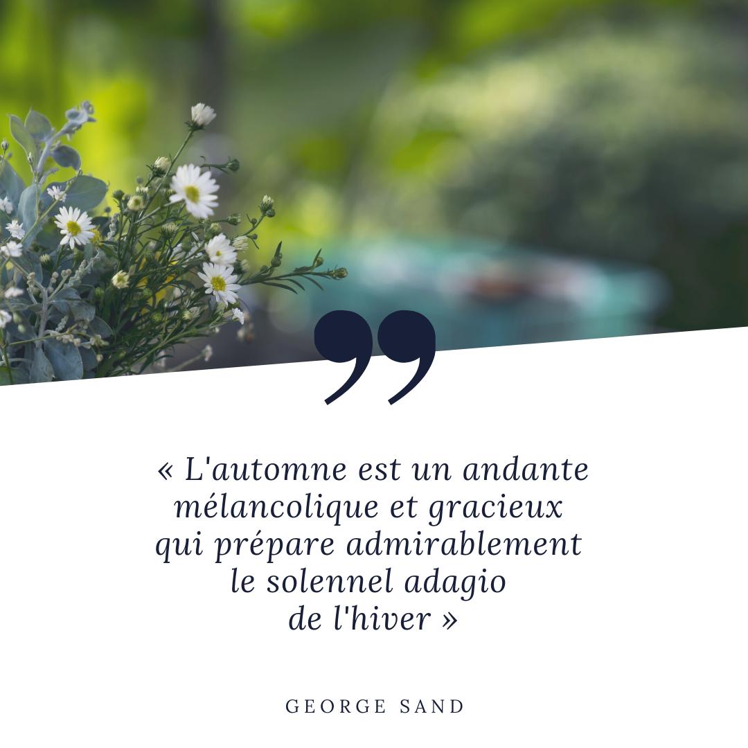 L'automne est un andante mélancolique et gracieux qui prépare admirablement le solennel adagio de l'hiver. George Sand